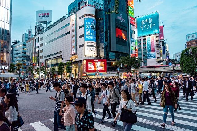 japonci na ulici