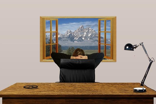 kancelář okno