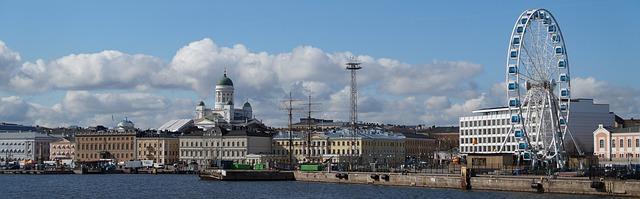 výhled na Helsinky