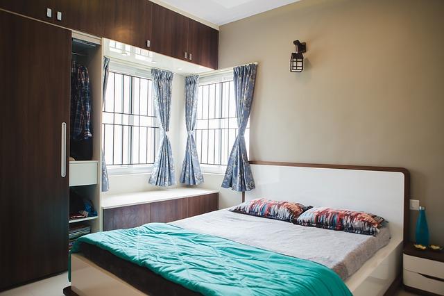 vestavěná skříň, ložnice