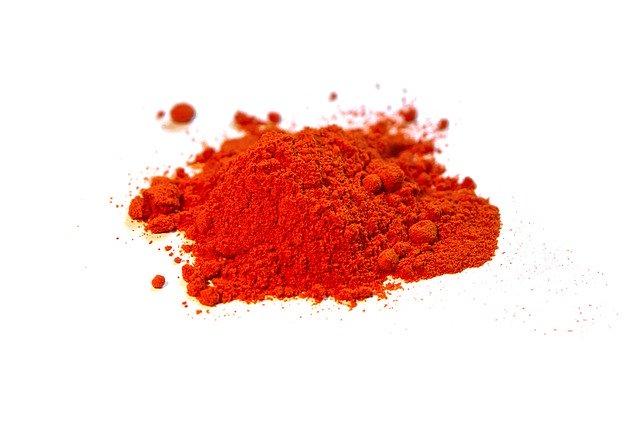 červený prášek